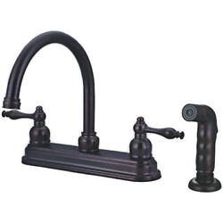 Oil Rubbed Bronze Kitchen Faucet With Sprayer 12-2672