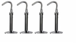 Chevrolet Chevy Car And Truck Chrome Hood Latch Set Of 4 - 1929-1932