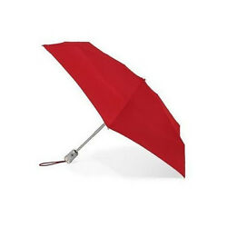 Crimson Red Totes 8603 Signature Auto Push OpenClose Micro 'Bella Umbrella