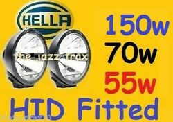 1pr Hella Rallye 4000 Large Or Compact Fitted With Our Hid Kit - 55w 70w Or 150w