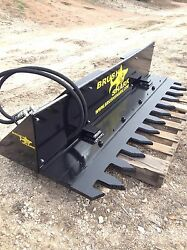 Tree Shear TREE TRIMMER - Brushshark Skid Steer Attachment - 6' MANUAL Cycle