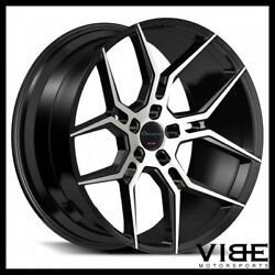 20 Giovanna Haleb Machined Black Concave Wheels Rims Fits Ford Mustang Gt Gt500