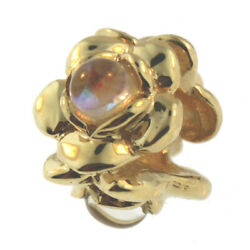 Authentic Trollbeads 18k Gold 81710 Three Flowers, Gold 0