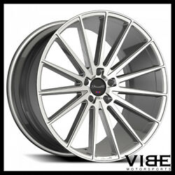 20 Gianelle Verdi Silver Concave Wheels Rims Fits Ford Mustang Gt Gt500
