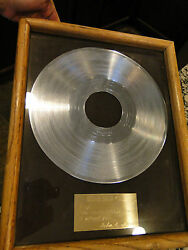 Rare Ray Charles Silver Record Gift From Dinah Show February 20 1975