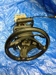 Steering Column 98 99 00 01 02 Audi A4 S4 Wheel Key Ignition Cover Black Stick