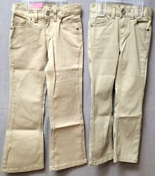 Boys Slim Or Girls 4-6x Sonoma Goods For Lifeandtrade Sandy Tan Bootcut Jeans Bnwt