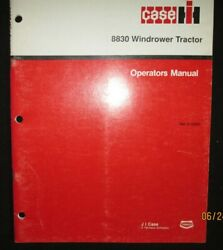Case - Ih 8830 Windrower Tractor Operator`s Manual Book Factory Original 1989