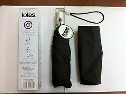 Black Totes 8603 Signature Auto Push Open  Close Folding Micro 'Bella Umbrella