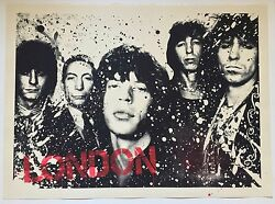 The London Years - Mr Brainwash -2009 Signed/and039d Hand Sprayed - Rolling Stones