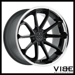 20 Blaque Diamond Bd23 Black Concave Wheels Rims Fits Ford Mustang Gt Gt500