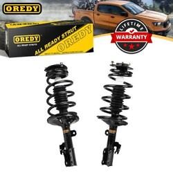 Oredy 2 Front Struts Assembly Coil Springs And Mounts For Toyota Sienna Fwd 03-05