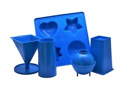 5 X Candle Moulds 1 X Tray 1 X Pillar 1 X Pyramid 1 X Sphere 1 X Rectangle S7554