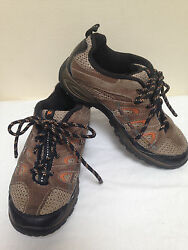 Merrell Chameleon Ventilator Hiking Walking Shoes WALNUT Kids Youth size 2 NICE!