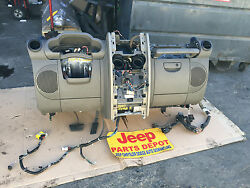 2007-2008 JEEP WRANGLER JKU DASH ASSEMBLY TAN AC DECK CENTER BEZEL CLIMATE