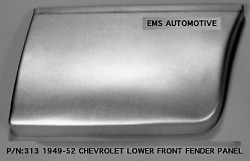 Chevrolet Chevy Car Lower Rear Of Front Fender Patch Right 1949-1952 313r Ems