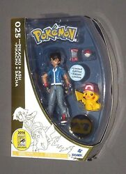 Pokemon Ash And Pikachu W Hat Figure 2016 Sdcc Exclusive 20th Anniversary Tomy