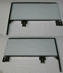 1959 60 Buick Cadillac Chevy Olds Pont Convert Door Glasses Framed Lh Rh Clear
