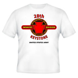 28th Infantry Division Keystone Division Emblem Battle And Campaign Shirt