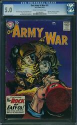 Our Army At War 81 Cgc 5.0 Dc 1959 Sgt. Rock Prototype Until 83 F7 123 1 Cm