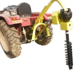 Titan 30hp Hd Steel Fence Posthole Digger W/6 Auger 3 Point Tractor Attachment
