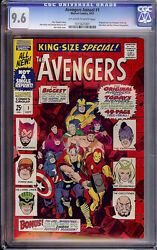 Avengers Annual 1 Cgc 9.6 1967 Original And New Team Up Key F7 101 Cm Clean