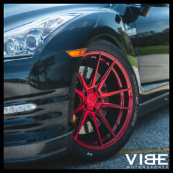 20 Rohana Rfx2 Red Forged Concave Wheels Rims Fits Nissan Gtr