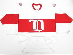 Detroit Red Wings Authentic White Winter Classic Alumni Ccm 6100 Jersey Size 54