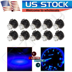 10PCS Blue T4/T4.2 Neo Wedge 1-SMD 2835 LED Dashboard AC Climate Control Lights