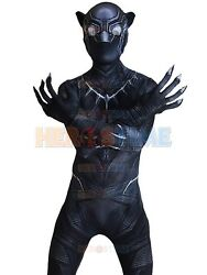 Civil War Black Panther Costume 3d Print Halloween Cosplay Suit For Adult/kids
