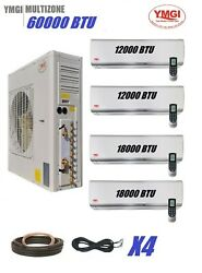 YMGI 60000 BTU 5 Ton Ductless Mini Split Air Conditioner with Heat Pump Wall Mou