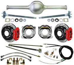 Currie 9 Ford 52 Street Rod Rear End And Wilwood Drilled Disc Brakesred Caliper