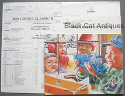 2001 Lionel Classic Model Trains And Accessories Catalog Vol 2. And Order Forms