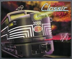 Original 1997 Lionel Classic Model Trains And Accessories Catalog With Prices