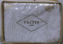3230 New Frette Floral Luxury Lux Symphony Gold Duvet Cover Ivory Queen Rare