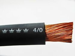 250and039 4/0 Excelene Welding Cable Black Made In Usa 600v Up To 600 Amps