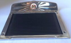 Elgin Polished Deluxe Aluminum Running Board Step Plate Rubber Set