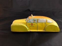 Vintage Tin Lupor Taxi Cab Car Toy Wind-up No. 620 Lupor Metal Products