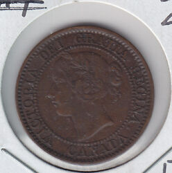 1859wide 9/8 Canada Large Cent Grade Xf40