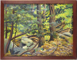 Max Russell Woodson 1895-1953 American Listed Antique Original Oil Landscape
