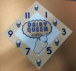 New 15 Diamond Dairy Queen Ice Cream Glass Replacement Clock Face For Pam