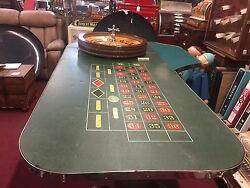 1920's Casino Roulette  w Mason Wheel and Table With Travel Case