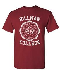 HILLMAN COLLEGE retro 80s sitcom tv Cotton Unisex T Shirt