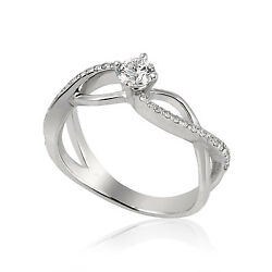 Gia 0.48 Ct Round Cut E If Halo Diamond Solitaire Engagement Ring 14k White Gold