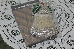 AVON VINTAGE SHIMMERING HOLIDAY ORNAMENTS....BELL