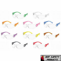 Gateway Gumballs Clear Lens Safety Glasses Colored Frames Small Size 10 Pairs