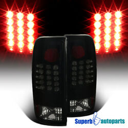 For 1997 2003 Ford F150 F250 Styleside LED Tail Brake Lights Glossy Black Lamps