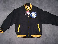 Mitchell And Ness Penguins Wool Jacket Size 2xl New With Tags Retail 400