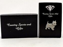 West Highland Terrier Westie English Pewter Lapel Pin Badge Hand Made - Gift Box