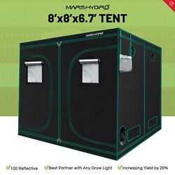 Mars Hydro 8and039x8and039x6.7and039 Indoor Grow Tent Room Home Box Plant Hut Reflective Mylar